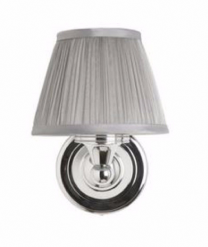 Burlington Round Light With Chrome Base & Chiffon Silver Shade Bl15